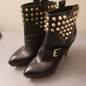 Black Goldes studded booties (8) by Michael Kors